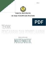 Panduan Mengajar Untuk Guru Matematik