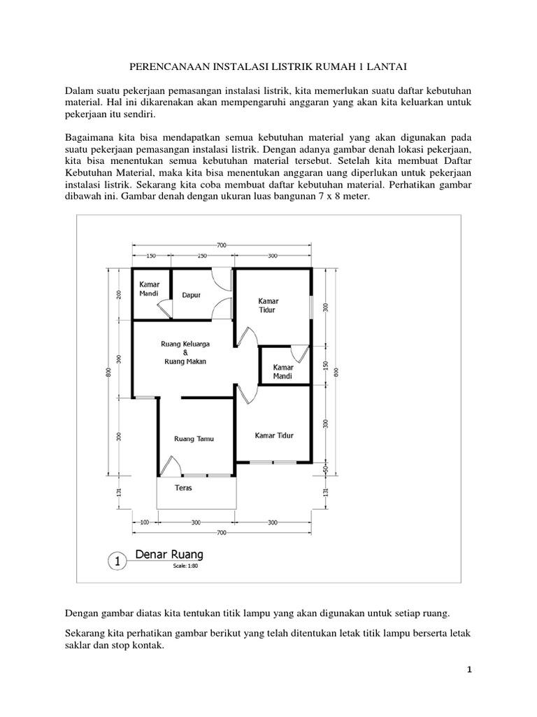 Perencanaan instalasi listrik rumah 1 lantai asfbconference2016 Choice Image