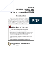 GENERAL POWERS AND ATTRIBUTES OF LOCAL GOVERNMENT UNITS