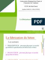 La Fabrication Des Bétons