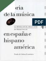 Historia de La Musica Siglo XVIII. FCE. JMLEZA Ed. Indice
