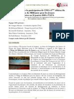 Rapport Rafik Hamimi Sur Le Village Du Mill Naire Pour Les Jeunes Janvier 2010 Tata