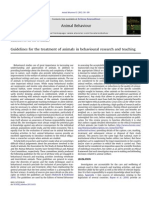 Guidelines for the Treatment of Animals in Behavioural Research and Teaching