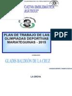 PLAN DE TRABAJO DE LAS OLIMPIADAS DEPORTIVAS MARIATEGUINAS 2015.docx