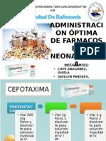 Administracion Óptima de Farmacos en Neonatologia