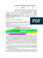LOS PRINCIPIOS LÓGICOS SUPREMOS APLICADOS AL DERECHO, Logica, Don Pedro