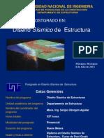Postgrado en Diseño Sísmico de Estructura