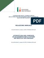 Comitato Di Solidarietà Per Le Vittime Dei Reati Di Tipo Mafioso 2014