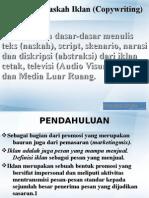 Penulisan Naskah Iklan Copywriting)