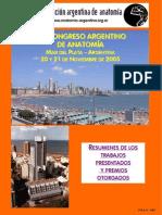 XLII Congreso Argentino de Anatomía Mar Del Plata - 2005