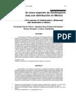 La madera de cinco especies de Zanthoxylum L. (Rutaceae) con distribución en México