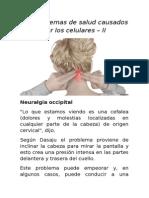 Los Problemas de Salud Causados Por Los Celulares – II