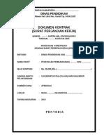 Contoh Format Dokumen Kontrak Konstruksi