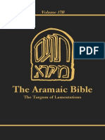ArBib 17B the Targum of Lamentations