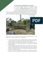 Construccion Con Materiles Ecosustentables