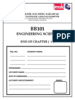 Cover End of Chapter Engineering Science BB101 Versi Dis 2013