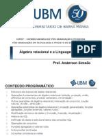01 - Álgebra Relacional Ea Linguagem SQL - Aula 1