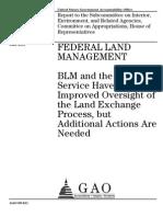 Federal Land Management - BLM