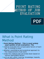 Point Rating Method of Job Evaluation