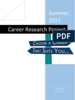 career exploration student research packet