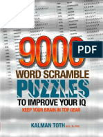 9000 Word Scramble Puzzles to Improve Your IQ - Toth M.a. M.phil., Kalman