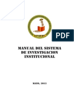 Manual Sistema de Investigación 2012-2015