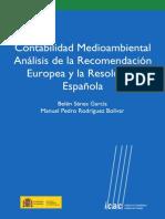 contabilidad medioambiental analisis de la recomendacion europea y la resolucion española