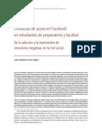 Conductas de Acoso en Facebook en estudiantes de preparatoria y facultad