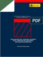 evaluacion del control interno en el proceso de auditoria, contraste empiricos