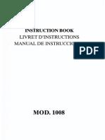 Manual de Instrucciones 1008