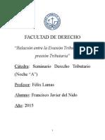 Francisco Javier del Nido - Monografía Derecho Tributario