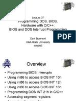 Bios Interrupt Programming