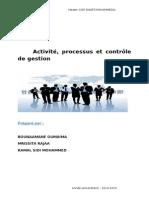 Activité, Processus Et Contrôle de Gestion
