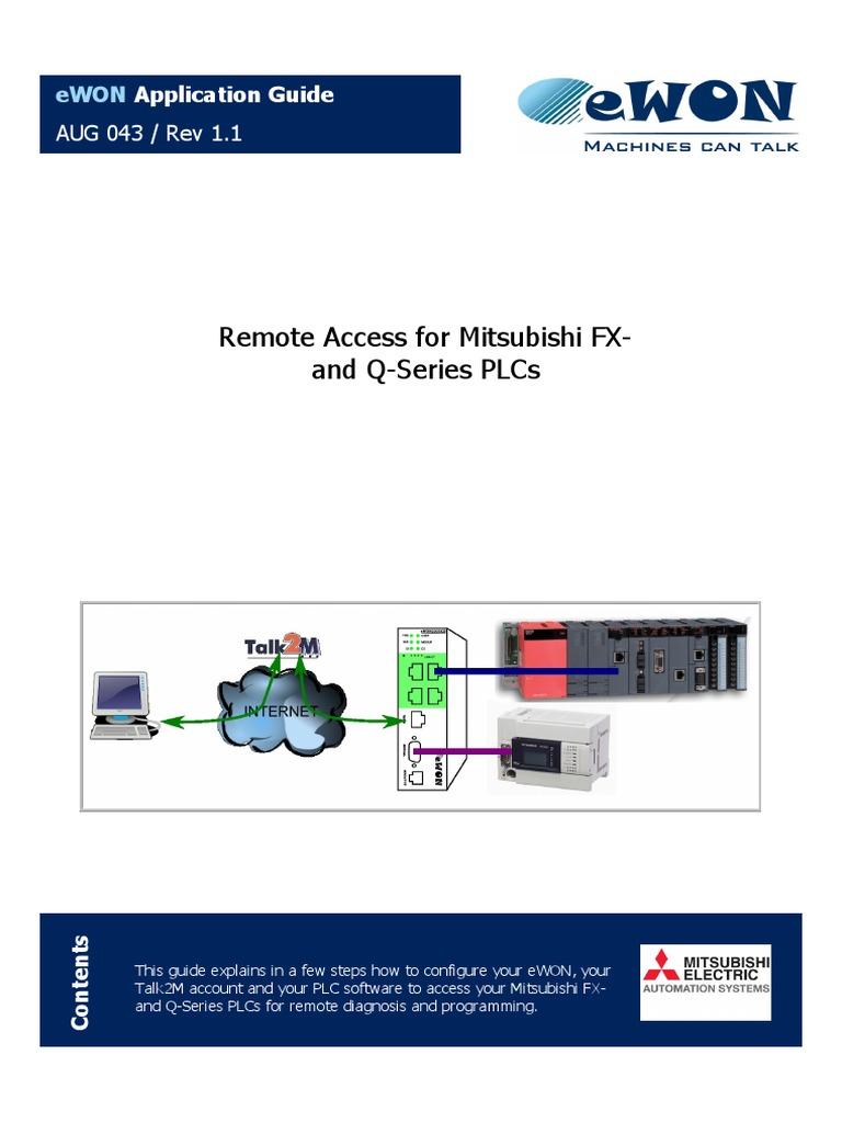 EWON (Remote Access for Mitsubishi PLCs) | Ip Address