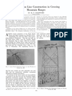 Transmission Line Construction in Crossing Mountain Ranges