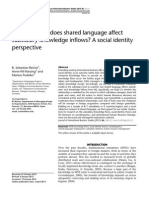 Why and how does shared language affect subsidiary knowledge inflows? A social identity perspective