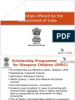 scholarship by govt of India   prepared for sri murugan centre.ppt