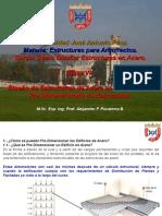 Curso de Diseño en Acero Clase No 6. Pre Dimensionado de Sistemas Estructurales en Acero