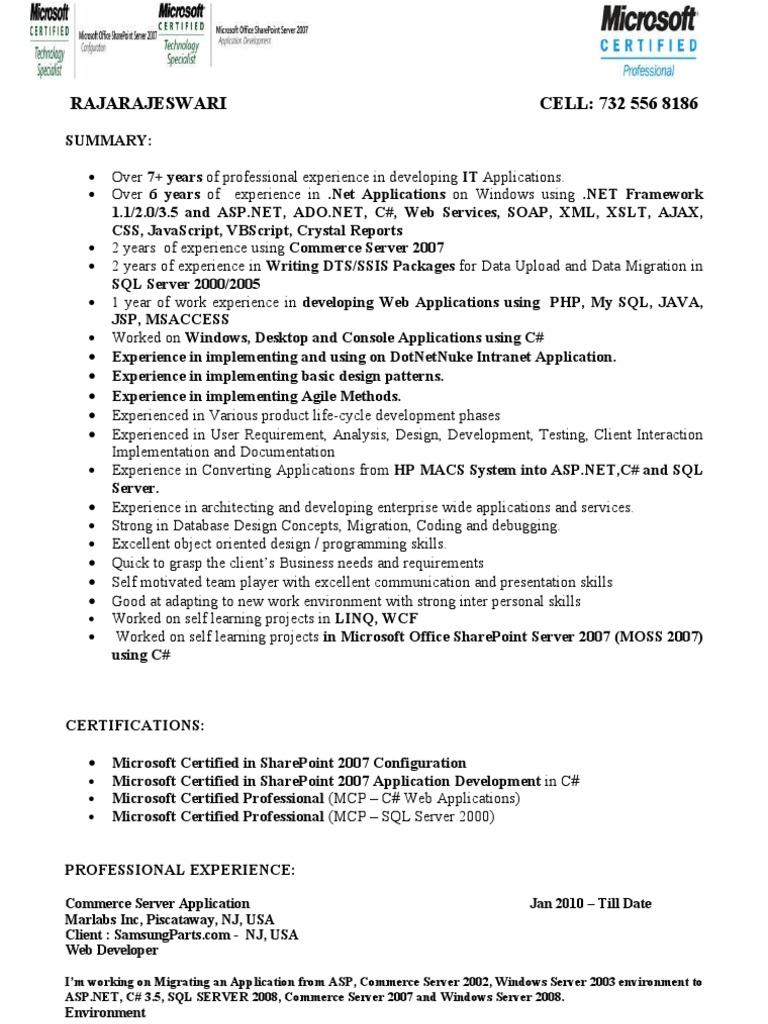 Rajarajeswari Microsoft Sql Server Web Application