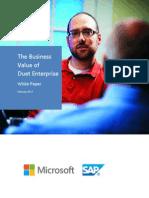 The Business Value of Duet Enterprise