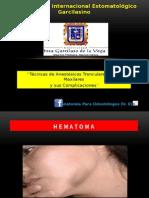 4 COMPLICACIONES DE LAS ANESTESIAS TRONCULARES