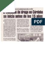 El consumo de droga en Córdoba se inicia antes de los 15 años