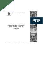 RESIDENCIA PARA ESTUDIANTES EN EL BARRIO CÍVICO DE SANTIAGO