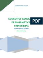 Guía de Estudio de Matemática Financiera Und I.PDF