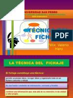Tecnica Del Fichaje
