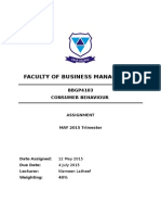 BBGP4103Consumer Behaviour Assignment May-2015