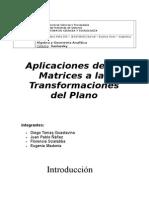 Matrices y transformaciones geométricas en. el plano[1]