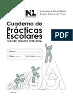 Cuaderno de Practicas Escolares de Quinto Grado