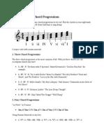 Common Piano Chord Progressions