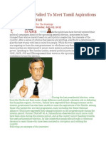 Interim Govt Failed to Meet Tamil Aspirations – — Sumanthiran